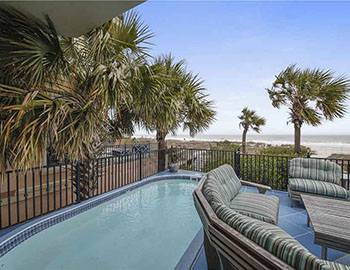 Hilton Head vacation home with an oceanfront private pool