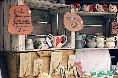 Crafts from an Artisan booth at Bluffton