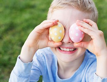 Young Boy with Easter Eggs