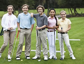 Teens in Golf Camp