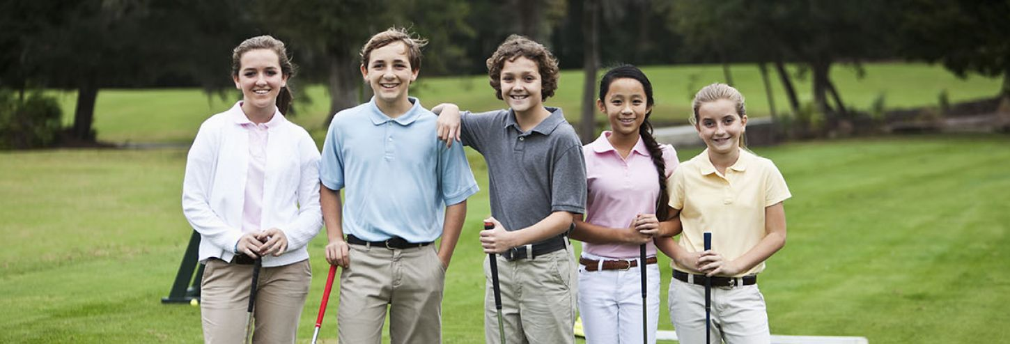 Teens on a Golf Course