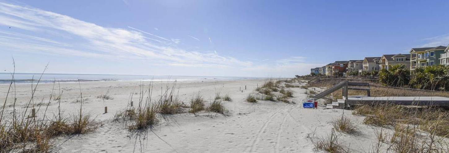 Private beach access from a Vacation Homes of Hilton Head beach house