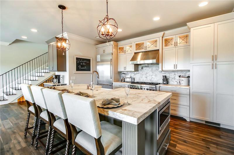 A stunning kitchen in a Hilton Head vacation rental