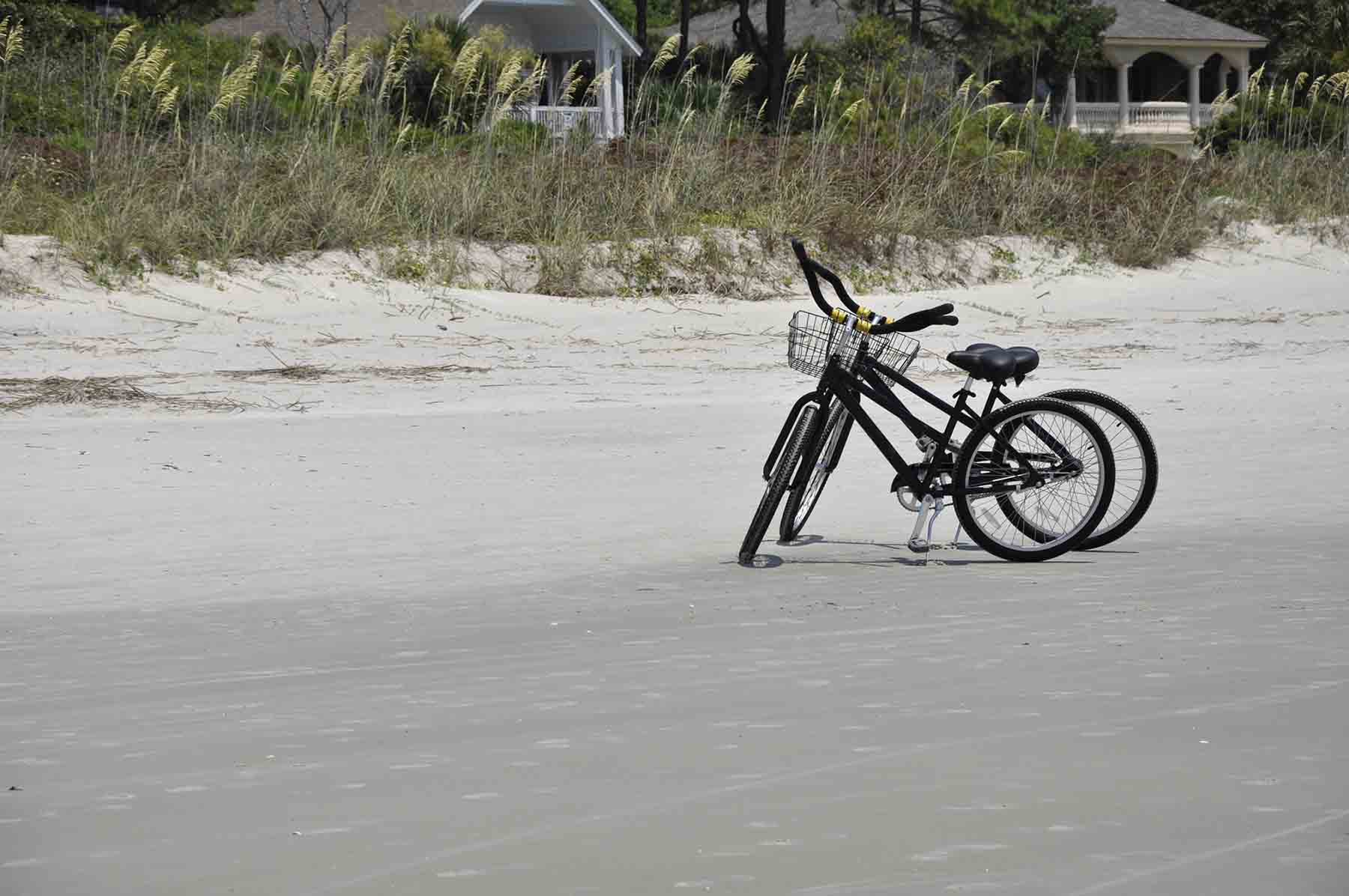 Bike on the beach at Hilton Head
