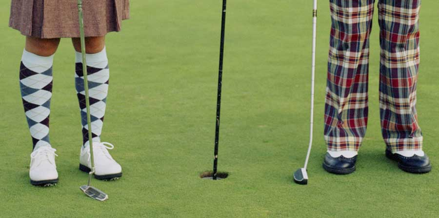 Golfers in Plaid Nation Outfits
