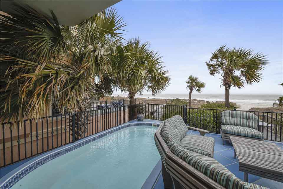 The private pool at 14 Whelk Street on Hilton Head Island